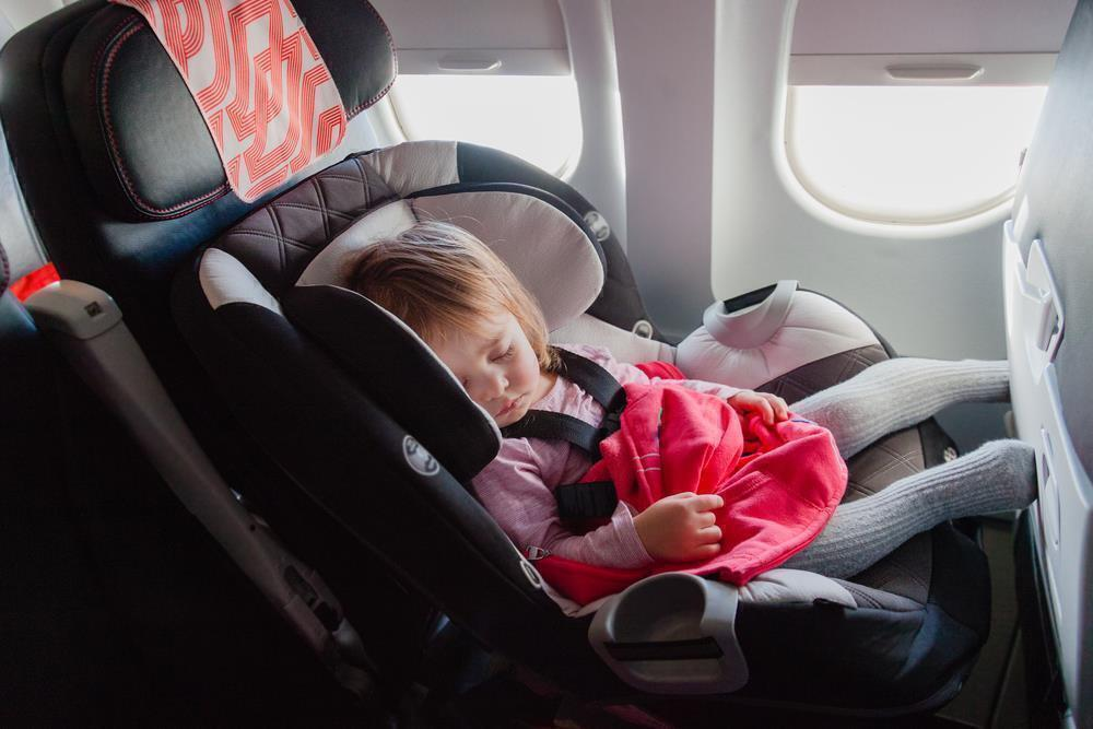 A sleeping baby equals a peaceful flight